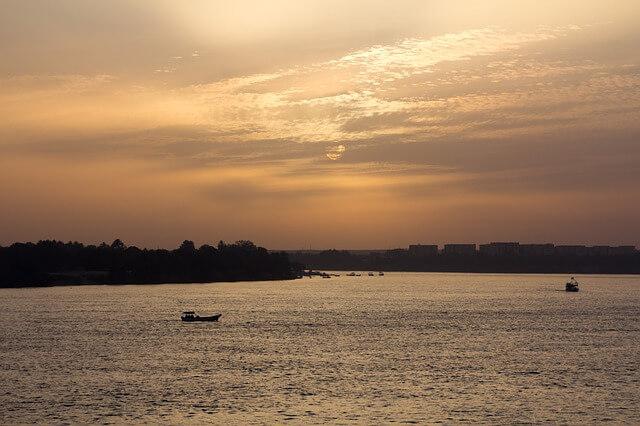 ナイル河の夕暮れ