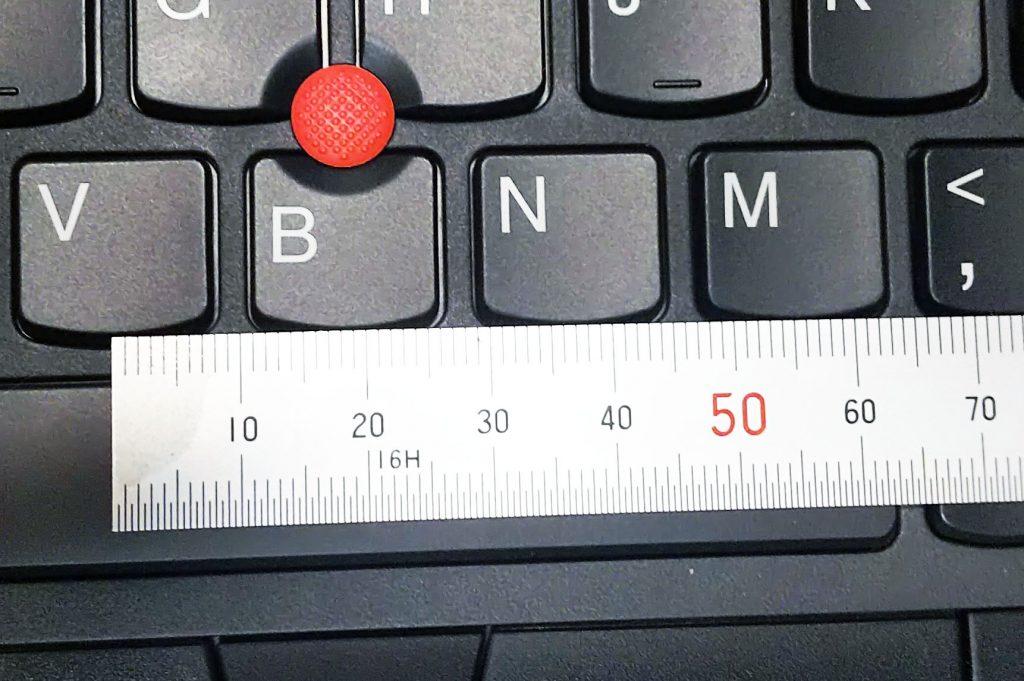 thinkpad x395のキーピッチ