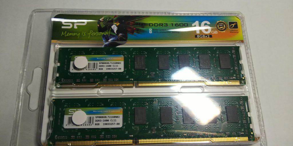 DDR3の8ギガ×2